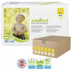 Maxi Giga pack 168 Couches bio écologiques Swilet taille 3 sur Choupinet