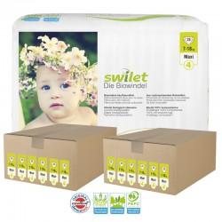 Maxi pack 336 Couches bio écologiques Swilet taille 4 sur Choupinet