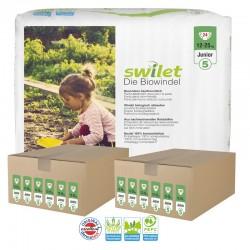 Maxi pack 264 Couches bio écologiques Swilet Premium Care Pants taille 5 sur Choupinet