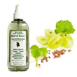 Huile de beauté aux pépins de raisin 100% végétale et pure sur Choupinet