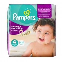 37 Couches Pampers Active Fit taille 4 sur Choupinet