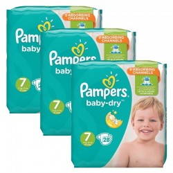 Pack 84 Couches Pampers Baby Dry taille 7 sur Choupinet