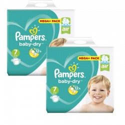 Mega Pack 112 Couches Pampers Baby Dry taille 7 sur Choupinet