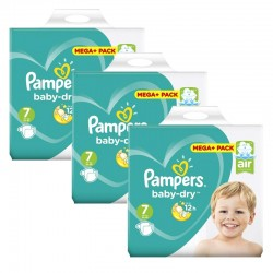 Maxi Mega Pack 140 Couches Pampers Baby Dry taille 7 sur Choupinet