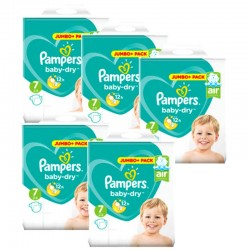 Maxi Giga Pack 168 Couches Pampers Baby Dry taille 7 sur Choupinet