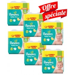 Maxi Mega Pack 224 Couches Pampers Baby Dry taille 7 sur Choupinet