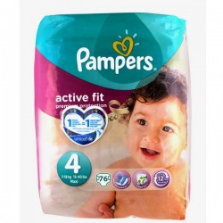 76 Couches Pampers Active Fit taille 4 sur Choupinet