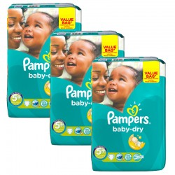 Maxi Pack 168 Couches Pampers Baby Dry taille 5+ sur Choupinet