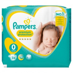 Pack 24 Couches Pampers New Baby Premium Protection taille 0 sur Choupinet