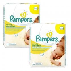 Pack 56 Lingettes Bébés Pampers Sensitive Baby - 3 Packs de 56 sur Choupinet
