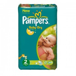 Pack 41 Couches Pampers Baby Dry taille 2 sur Choupinet