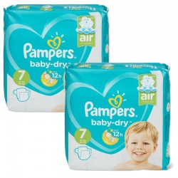 Mega Pack 115 Couches Pampers Baby Dry taille 7 sur Choupinet