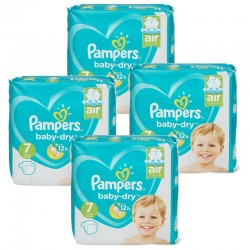Giga Pack 138 Couches Pampers Baby Dry taille 7 sur Choupinet