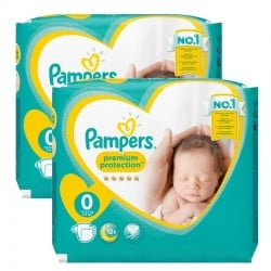 Pack 48 Couches Pampers New Baby Premium Protection taille 0 sur Choupinet