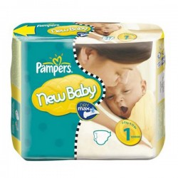54 Couches Pampers New Baby taille 1 sur Choupinet