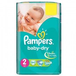 52 Couches Pampers Baby Dry taille 2 sur Choupinet