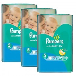 Mega Pack 264 Couches Pampers Active Baby Dry taille 5 sur Choupinet