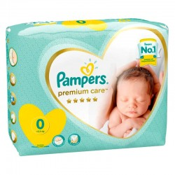 Pack 30 Couches Pampers New Baby Premium Care taille 0 sur Choupinet