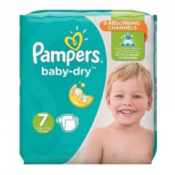 Pack 30 Couches Pampers Baby Dry taille 7 sur Choupinet