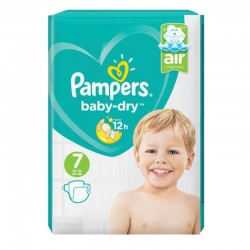 Pack 72 Couches Pampers Baby Dry taille 7 sur Choupinet