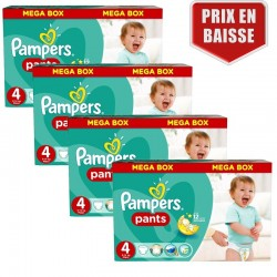 Mega pack 116 Couches Pampers Baby Dry Pants taille 4 sur Choupinet
