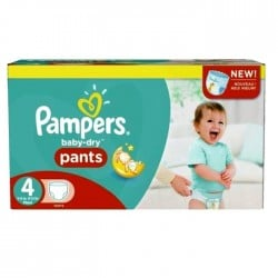 Giga pack 203 Couches Pampers Baby Dry Pants taille 4 sur Choupinet