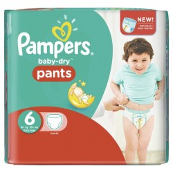 Pack 23 Couches Pampers Baby Dry Pants taille 6 sur Choupinet