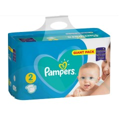 Pack 94 Couches Pampers Active Baby Dry taille 2 sur Choupinet