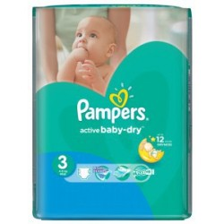 Pack 82 Couches Pampers Active Baby Dry taille 3 sur Choupinet