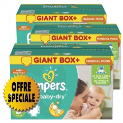 Maxi mega pack 420 Couches Pampers Active Baby Dry taille 5 sur Choupinet