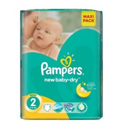 Mega pack 144 Couches Pampers New Baby Dry taille 2 sur Choupinet