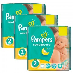 Maxi mega pack 432 Couches Pampers New Baby Dry taille 2 sur Choupinet
