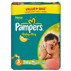 Mega pack 116 Couches Pampers Baby Dry taille 3 sur Choupinet