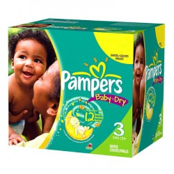 Pack jumeaux 696 Couches Pampers Baby Dry taille 3 sur Choupinet