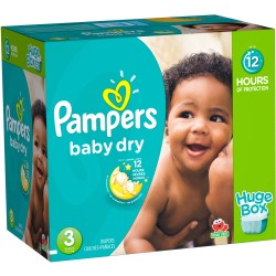 Pack jumeaux 928 Couches Pampers Baby Dry taille 3 sur Choupinet