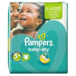 Pack 84 Couches Pampers Baby Dry taille 5+ sur Choupinet