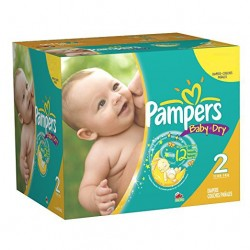 Pack jumeaux 1152 Couches Pampers New Baby Dry taille 2 sur Choupinet