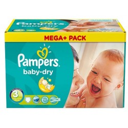 Pack jumeaux 1160 Couches Pampers Baby Dry taille 3 sur Choupinet