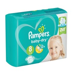 Pack 28 Couches Pampers Baby Dry taille 8 sur Choupinet
