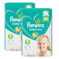 Pack 56 Couches Pampers Baby Dry taille 8 sur Choupinet