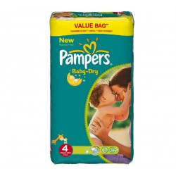 Pack 25 Couches Pampers Baby Dry taille 4 sur Choupinet
