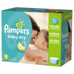 Pack 75 Couches Pampers Baby Dry taille 4 sur Choupinet