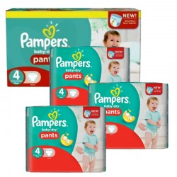 Mega pack 164 Couches Pampers Baby Dry Pants taille 4 sur Choupinet