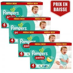 Maxi giga pack 328 Couches Pampers Baby Dry Pants taille 4 sur Choupinet