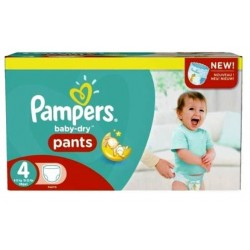 Pack jumeaux 738 Couches Pampers Baby Dry Pants taille 4 sur Choupinet