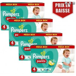 Pack jumeaux 984 Couches Pampers Baby Dry Pants taille 4 sur Choupinet