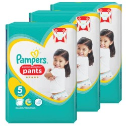 Giga pack 200 Couches Pampers Premium Protection Pants taille 5 sur Choupinet