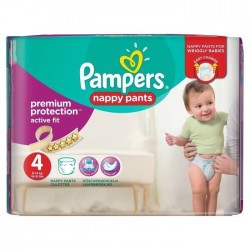 Mega pack 160 Couches Pampers Active Fit Pants taille 4 sur Choupinet