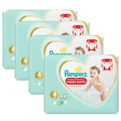 Pack 94 Couches Pampers Premium Protection Pants taille 4 sur Choupinet