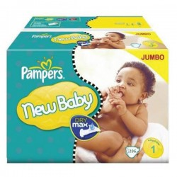 Pack 88 Couches Pampers Premium Protection taille 1 sur Choupinet